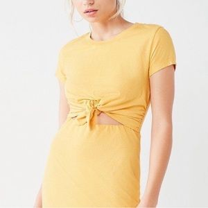 Urban Outfitters Knot-Front T-shirt Dress